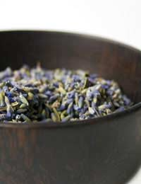 a bowl of lavender, ready to be used in cooking