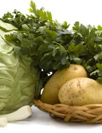 Bunch of parsley with other cooking ingredients in the kitchen